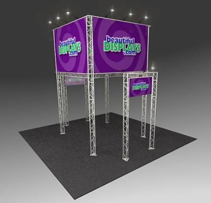 BK2100 Truss Tower Display  (as shown with molded crate, graphics & lights)
