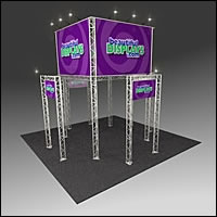 BK2200 Truss Tower Display with Cases, Graphics & Lights