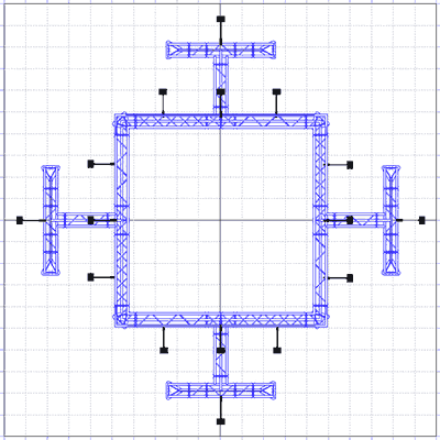 BK2200 Truss Tower Display Floor Plan