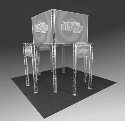 BK2200 Truss Tower Display  (truss hardware & molded shipping crates only - fabric graphics not included)
