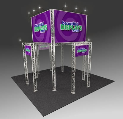BK2200 Truss Tower Display  (as shown with molded crate, graphics & lights)