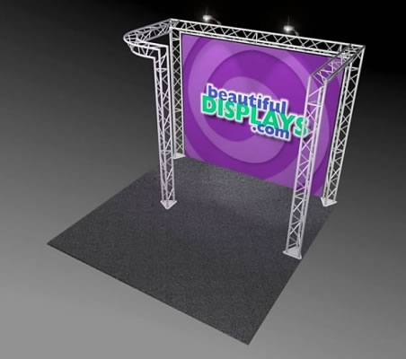 BK3-JL 10' x 10' Truss Kit  (as shown with cases, graphic & lights)