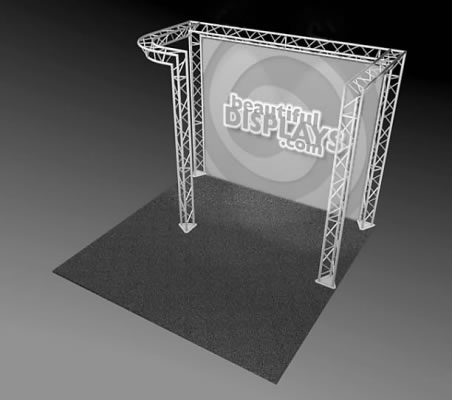 BK3-JL 10' x 10' Truss Kit  (truss hardware & cases only - fabric graphic not included)