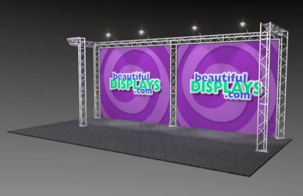 BK3-JL 10' x 20' Truss Kit  (as shown with cases, graphics & lights)