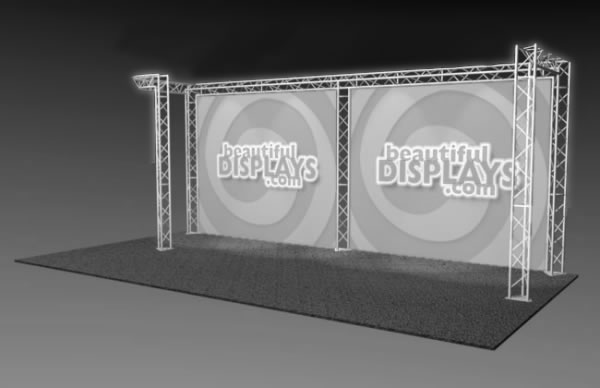BK3-JL 10' x 20' Truss Kit  (truss hardware & cases only - fabric graphics not included)