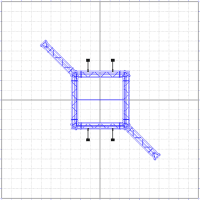 BK3000 Truss Tower Display Floor Plan