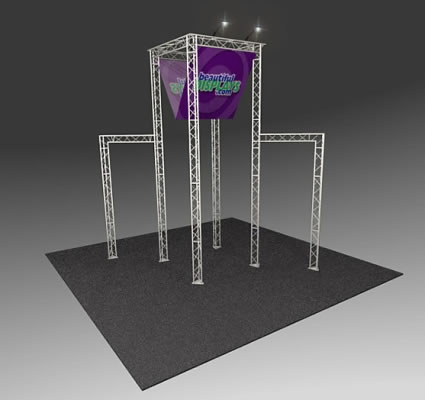 BK3000 Truss Tower Display  (as shown with molded crate, graphics & lights)