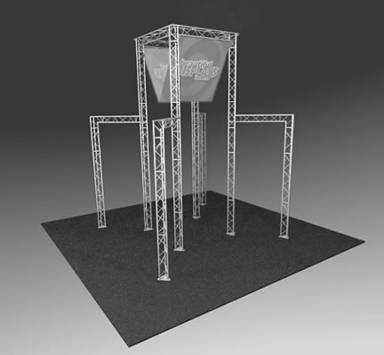 BK3100 Truss Tower Display  (truss hardware & molded shipping crate only - fabric graphics not included)