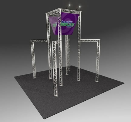 BK3100 Truss Tower Display   (as shown with molded crate, graphics & lights)