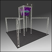 BK3200 Truss Tower Display with Case, Graphics & Lights