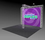 BK4-T 10' x 10' Truss Kit with Case, Graphic & Lights