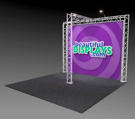 BK4-T 10' x 10' Truss Kit  (as shown with case, graphic & lights)