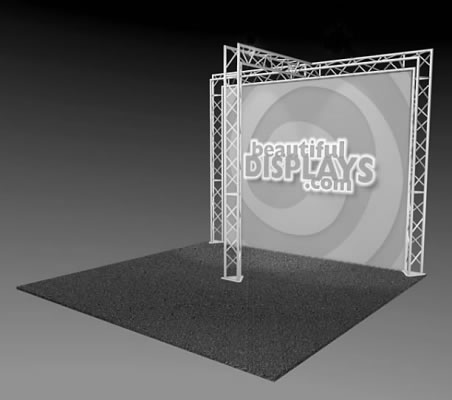 BK4-T 10' x 10' Truss Kit  (truss hardware & case only - fabric graphic not included)