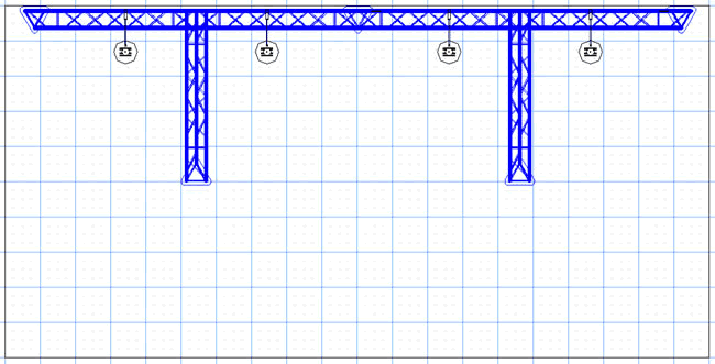 BK4 10' x 20' Truss Display Floor Plan