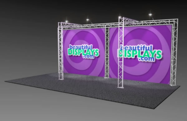 BK4-TT 10' x 20' Truss Kit  (as shown with cases, graphics & lights)