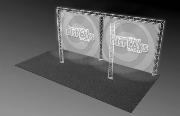 BK4-TT 10' x 20' Truss Kit  (truss hardware & cases only - fabric graphics not included)