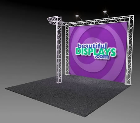 BK5-J 10' x 10' Truss Kit  (as shown with case, graphic & lights)