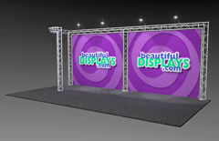 BK5-J 10' x 20' Truss Kit with Cases, Graphic & Lights