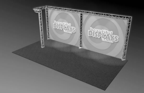 BK5-J 10' x 20' Truss Kit  (truss hardware & cases only - fabric graphics not included)