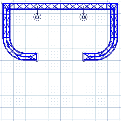 BK6-DJ 10' x 10' Truss Kit Floor Plan