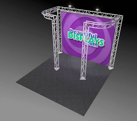 BK6-DJ 10' x 10' Truss Kit  (as shown with cases, graphic & lights)