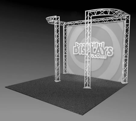 BK6-DJ 10' x 10' Truss Kit  (truss hardware & cases only - fabric graphic not included)