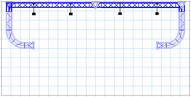 BK6 10' x 20' Truss Display Floor Plan