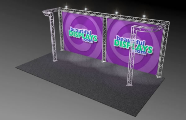 BK6-DJ 10' x 20' Truss Kit  (as shown with cases, graphics & lights)