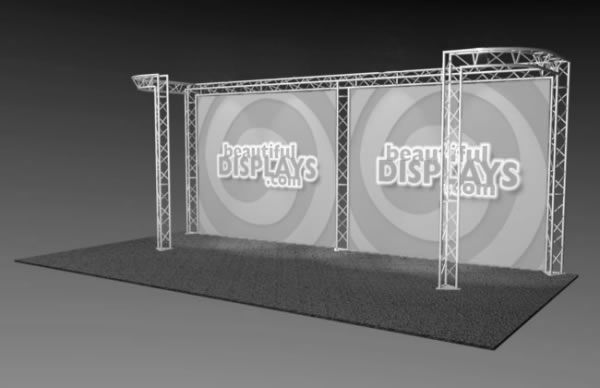 BK6-DJ 10' x 20' Truss Kit  (truss hardware & cases only - fabric graphics not included)