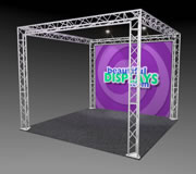 BK7-SQ 10' x 10' Truss Kit with Cases, Graphic & Lights