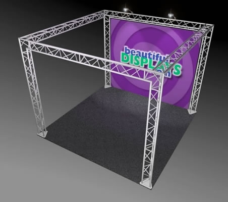 BK7-SQ 10' x 10' Truss Kit  (as shown with cases, graphic & lights)