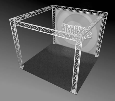 BK7-SQ 10' x 10' Truss Kit  (truss hardware & cases only - fabric graphic not included)