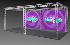 BK7-SQ 10' x 20' Truss Kit with Cases, Graphic & Lights