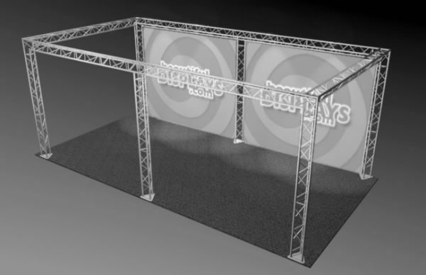 BK7-SQ 10' x 20' Truss Kit  (truss hardware & cases only - fabric graphics not included)