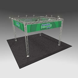 BK7 20' x 20' Truss Kit with Cases, Graphics & Lights