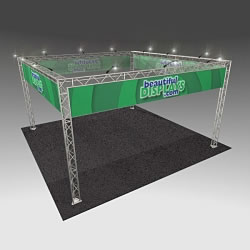 BK7MAX 20' x 20' Truss Kit with Cases, Graphics & Lights