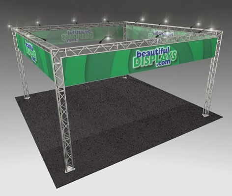 BK7MAX 20' x 20' Truss Kit  (as shown with cases, graphics & lights)