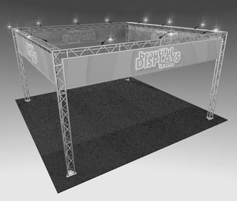 BK7MAX 20' x 20' Truss Display  (truss hardware & cases only - fabric graphics & lights not included)