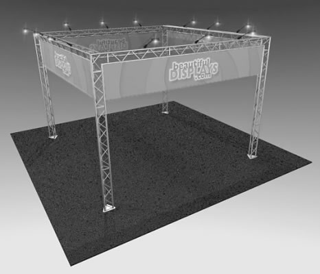 BK7 20' x 20' Truss Display  (truss hardware & cases only - fabric graphics & lights not included)