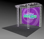 BK8-D 10' x 10' Truss Kit with Cases, Graphic & Lights