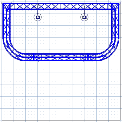 BK8-D 10' x 10' Truss Kit Floor Plan