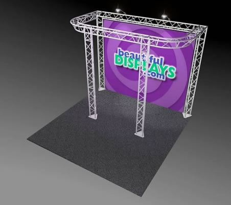 BK8-D 10' x 10' Truss Kit  (as shown with cases, graphic & lights)