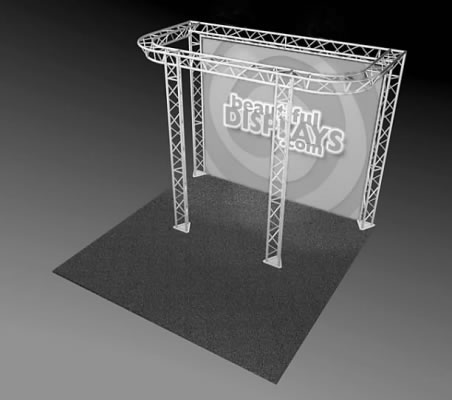 BK8-D 10' x 10' Truss Kit  (truss hardware & cases only - fabric graphic not included)
