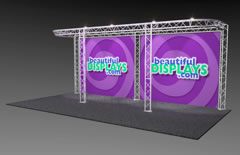 BeautifulDisplays BK8-D 10' x 20' Aluminum Truss Display System
