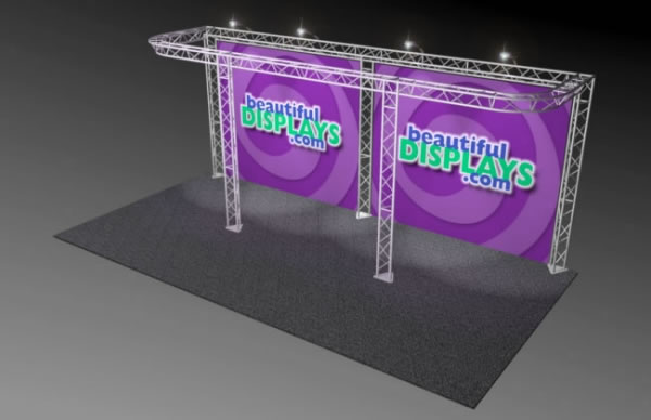 BK8-D 10' x 20' Truss Kit  (as shown with cases, graphics & lights)