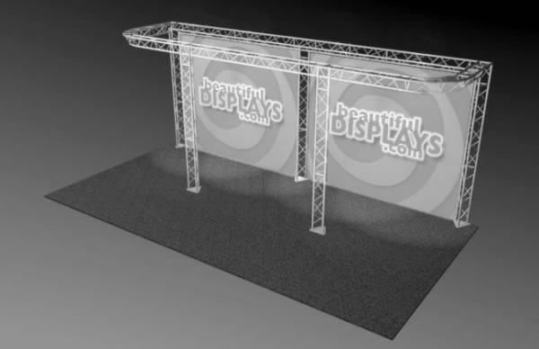 BK8-D 10' x 20' Truss Kit  (truss hardware & cases only - fabric graphics not included)