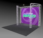 BK9-C2 10' x 10' Truss Kit with Cases, Graphic & Lights