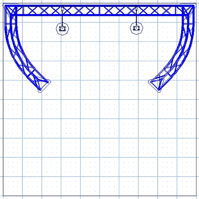 BK9-C2 10' x 10' Truss Kit Floor Plan