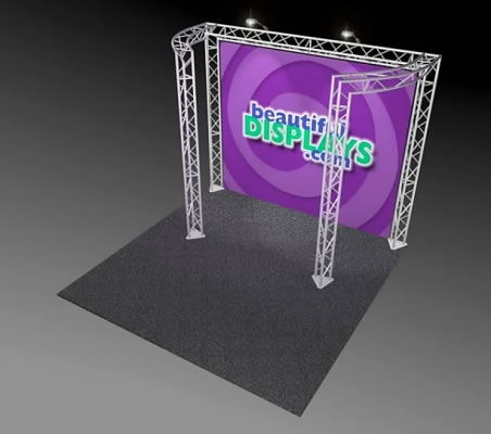 BK9-C2 10' x 10' Truss Kit  (as shown with cases, graphic & lights)