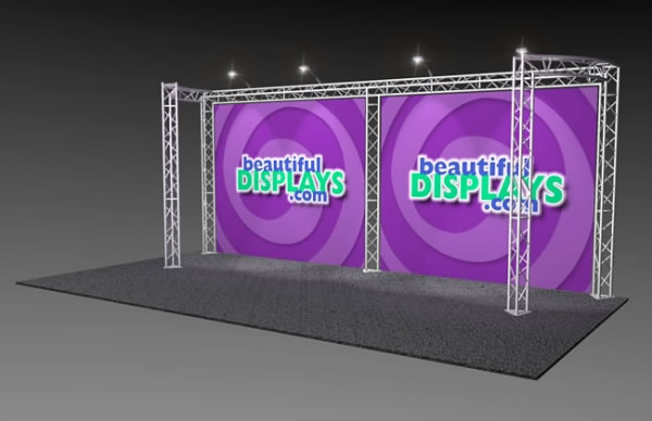 BK9-C2 10' x 20' Truss Kit  (as shown with cases, graphics & lights)